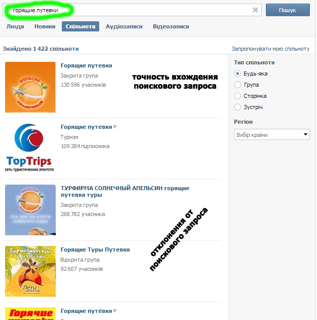 Как добиться выхода в ТОП в поиске ВКонтакте