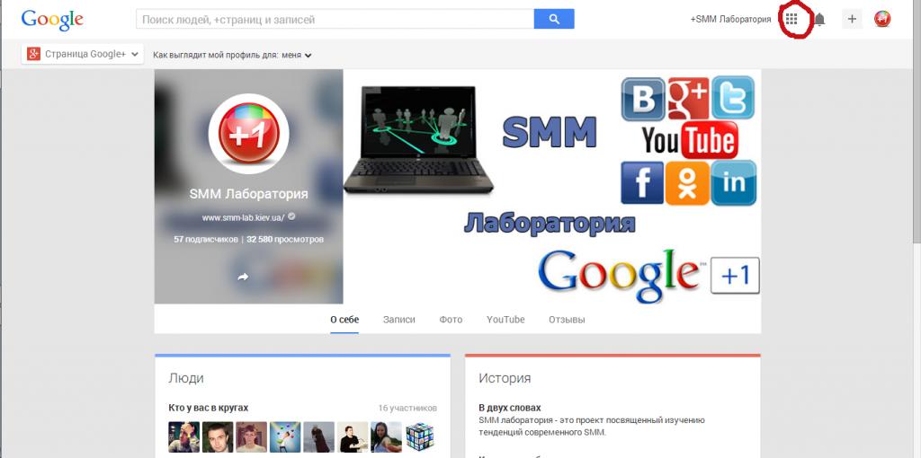 Статистика страницы в Google+